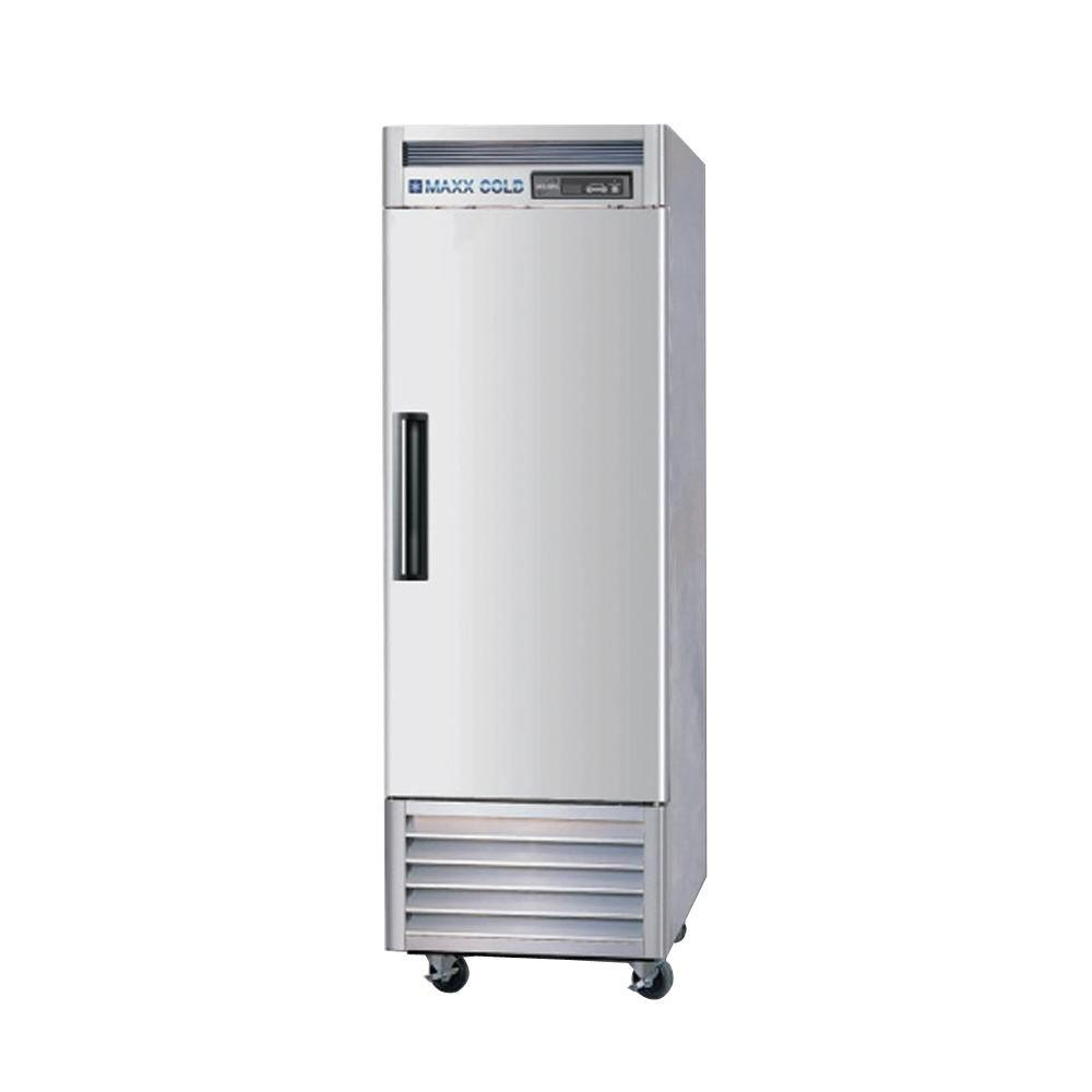23 cu. ft. Single Door Commercial Reach in Refrigerator with Stainless