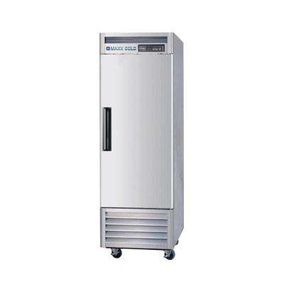 23 cu. ft. Single Door Commercial Reach in Refrigerator with Stainless Interior and Exterior