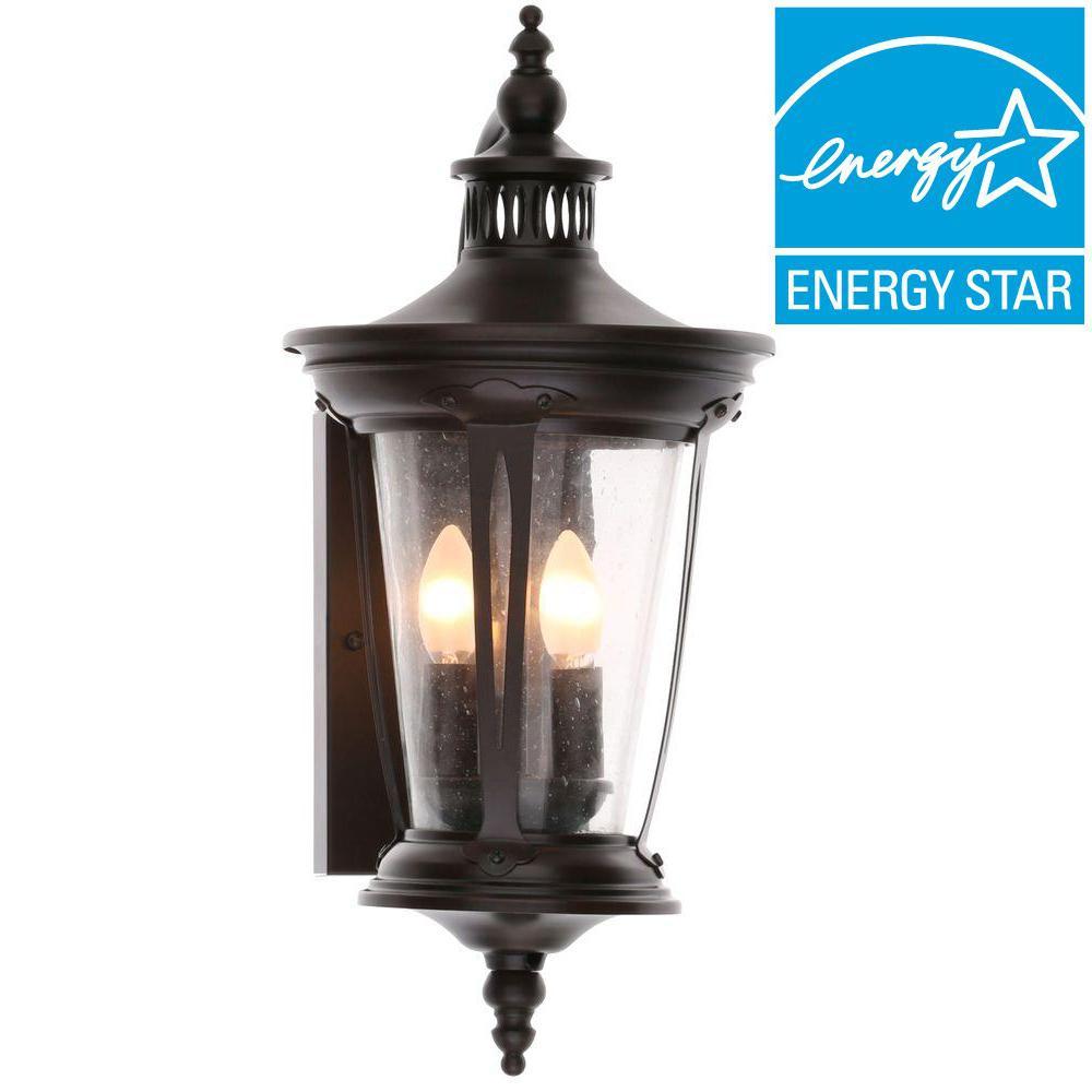 World Imports North Hampton 2-Light Old Bronze Outdoor Wall Lantern