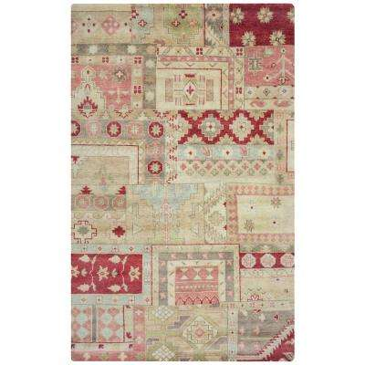 Hand-Knotted Burgundy 5 ft. x 8 ft. Area Rug