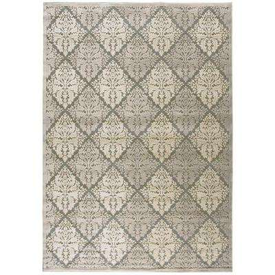 Graphic Illusions Ivory 8 ft. x 11 ft. Area Rug