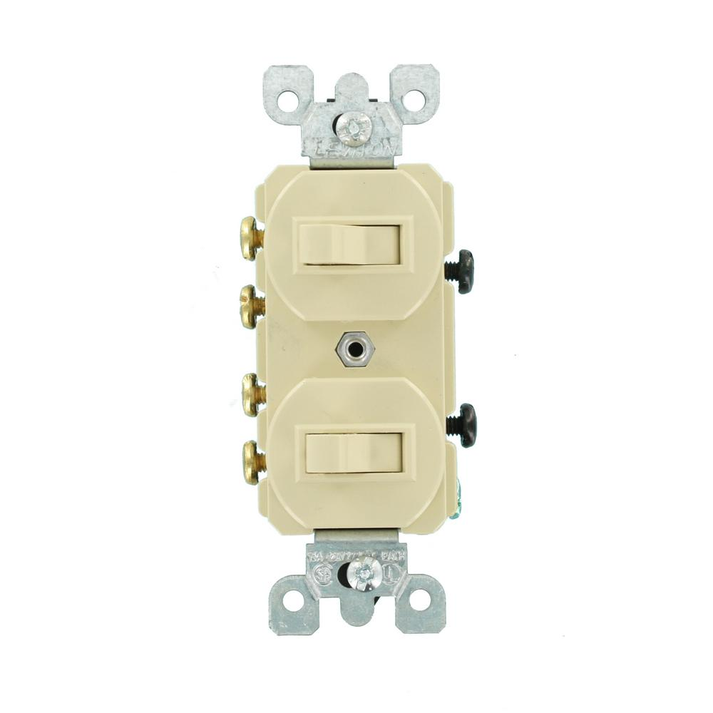 Leviton 15 Amp Commercial Grade Combination Two 3