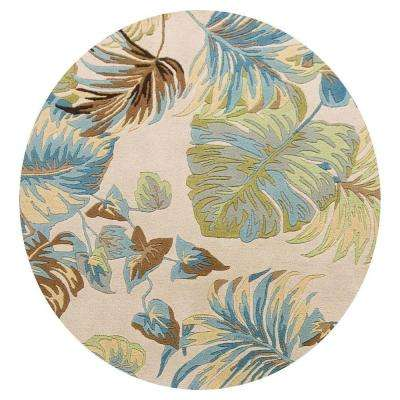 Paradise Home Ivory 7 ft. 6 in. x 7 ft. 6 in. Round Area Rug