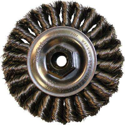 "4 in. Knot Twist Wire Wheel, 5/8""‑11 arbor for use with Angle Grinders"