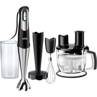 MultiQuick MQ777 SmartSpeed Stainless Steel Immersion Hand Blender with Food Processor, Whisk, and Masher Attachments