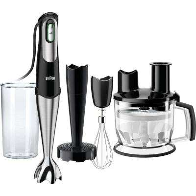 MultiQuick7 Smart-Speed Black 6-Cup Immersion Blender with Food Processor