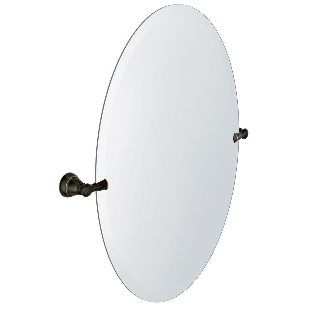 Moen Banbury 2295 In X 26 Frameless Pivoting Single Wall Mirror Mediterranean