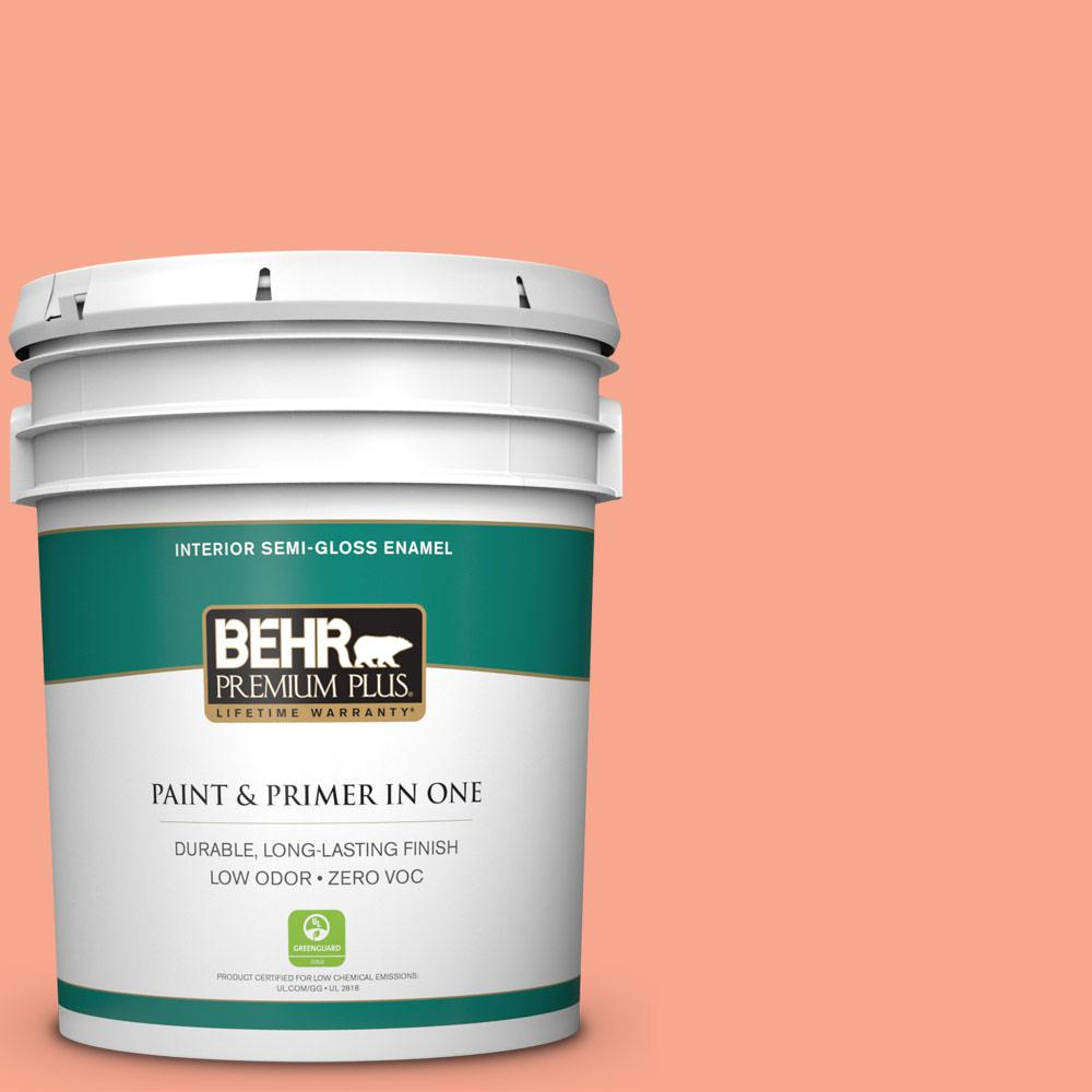 5-gal. #200B-4 Citrus Hill Zero VOC Semi-Gloss Enamel Interior Paint