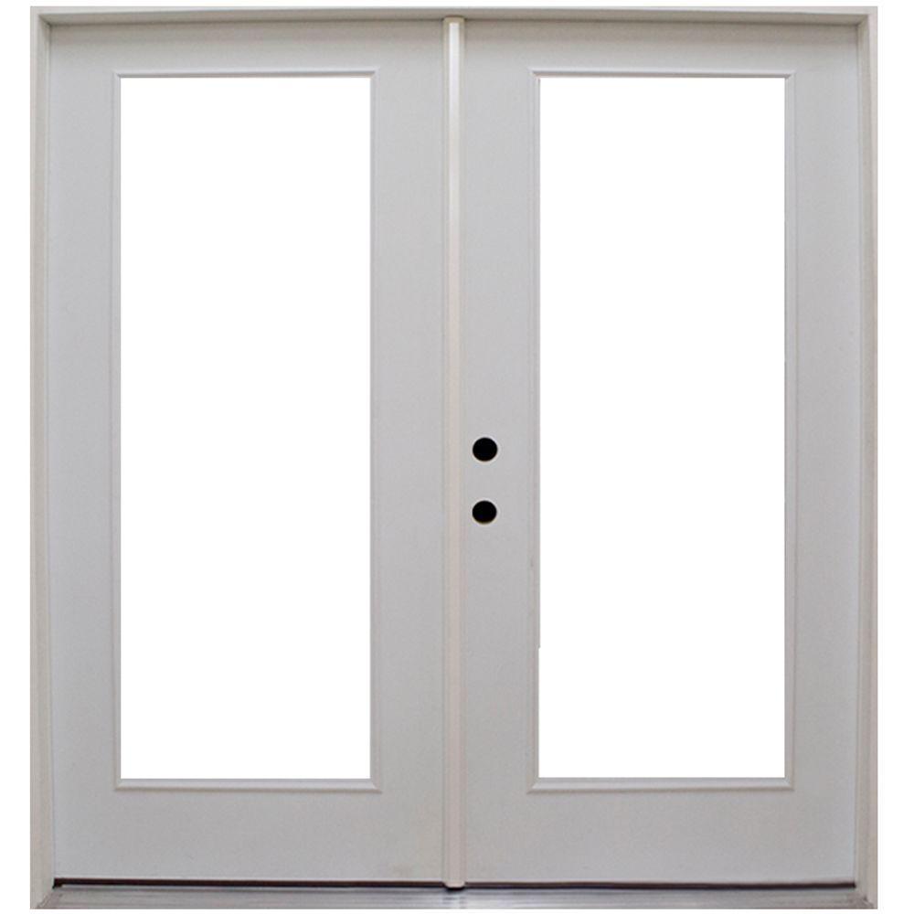 premium right hand full lite low e primed white steel patio door stlfec7280ri the home depot - 7280 Patio Door