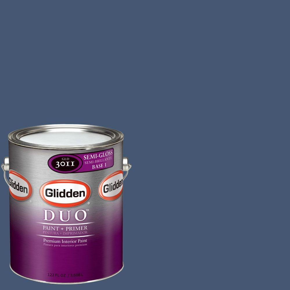 Glidden DUO Martha Stewart Living 1-gal. #MSL167-01S Azurite Semi-Gloss Interior Paint with Primer - DISCONTINUED