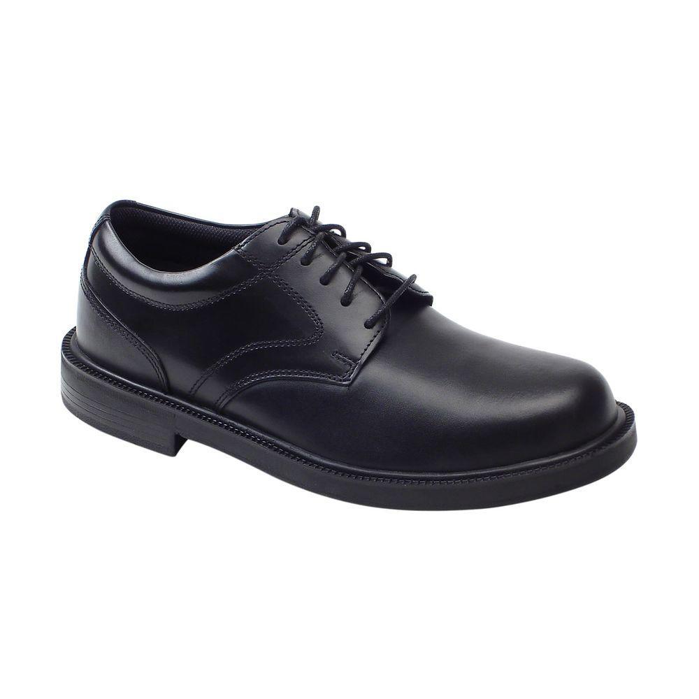 Times Black Size 15 Wide Plain Toe Oxford Shoe for Men