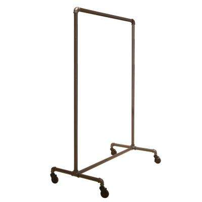 Pipeline 51 in. W x 64 in. H Non-Adjustable Gray Rolling Garment Rack