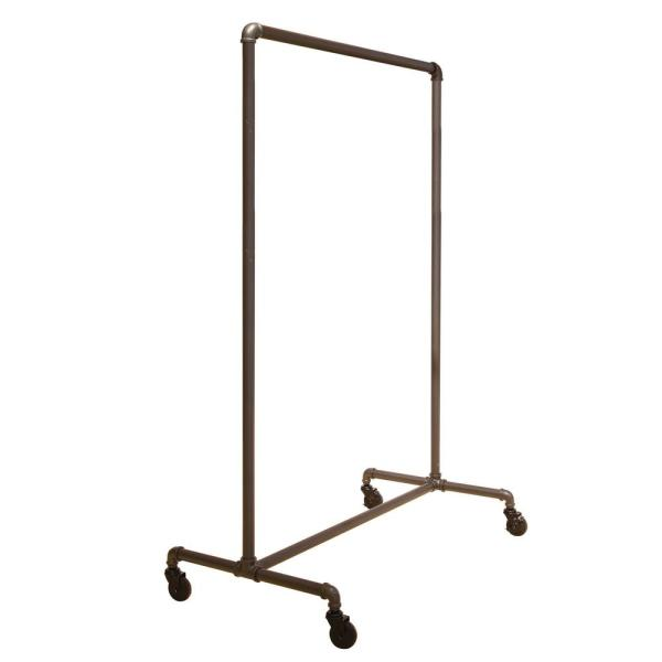 Pipeline Gray Steel Clothes Rack with Wheels (51 in. W x 64 in. H)