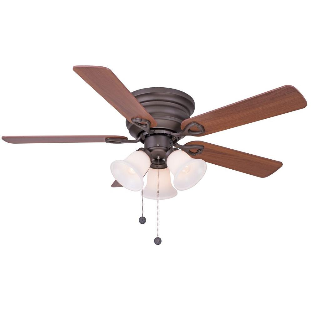 Indoor Oil Rubbed Bronze Ceiling Fan With Light Kit