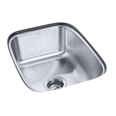 Springdale Undermount Stainless Steel 16 in. Single Basin Kitchen Sink