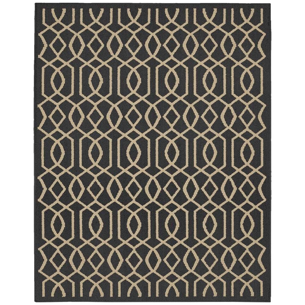 Garland Rug Fretwork Cinder Tan 8 Ft X 10 Ft Area Rug Ll380a09612040 The Home Depot