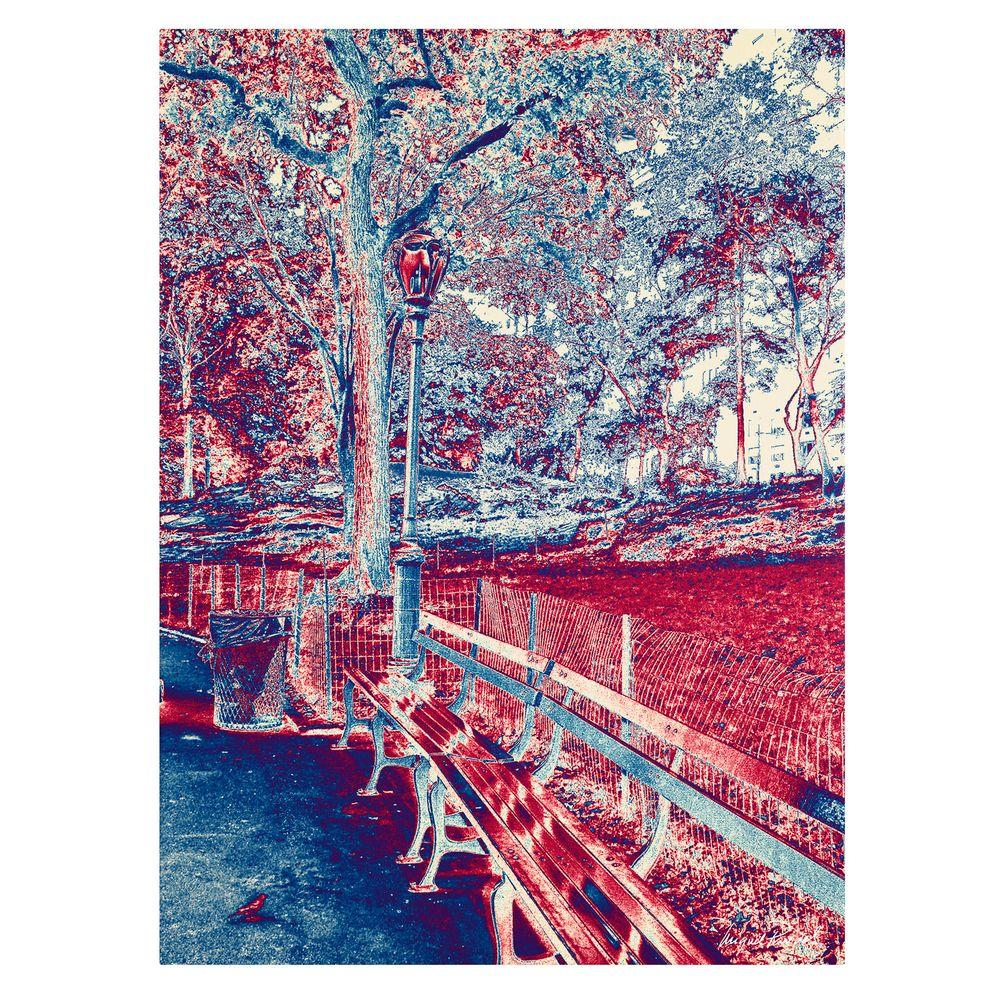 24 in. x 32 in. Red Blue I Canvas Art