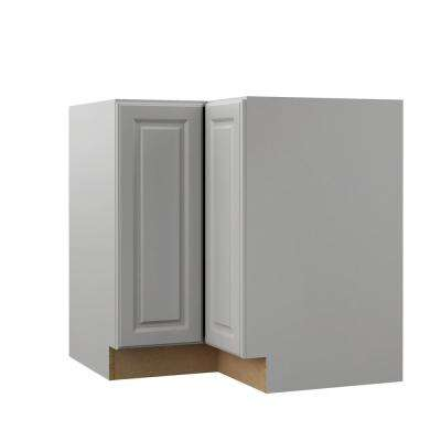 Elgin Assembled 36x34.5x20.25 in. EZ Reach Corner Base Kitchen Cabinet in Heron Gray