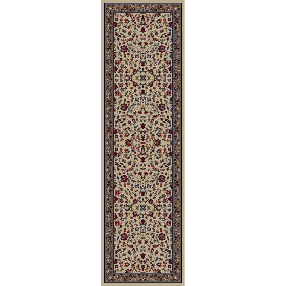 Jewel Kashan Ivory 2 ft. 3 in. x 7 ft. 7