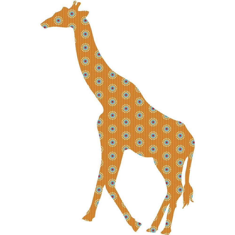 ZooWallogy 38 in. x 25 in. Riley the Giraffe Wall Decal
