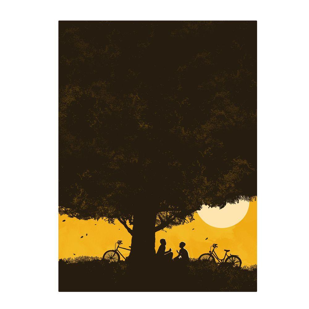 null 32 in. x 22 in. Under Giant Oak Tree Canvas Art