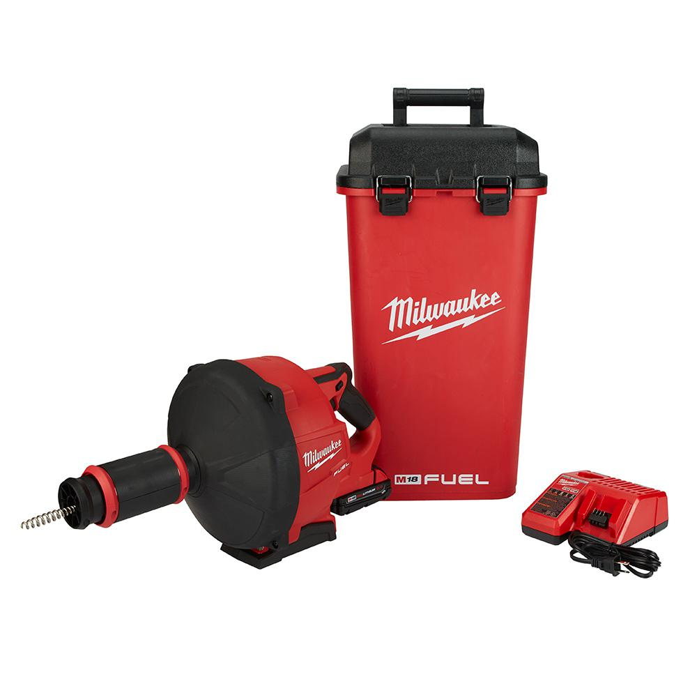 Milwaukee M18 FUEL 18-Volt Lithium-Ion Cordless Drain Cleaning Snake Auger with 5/16 in. Cable Drive Kit