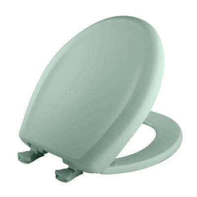 Round Closed Front Toilet Seat in Seafoam