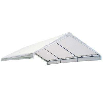 18 ft. W x 40 ft. D SuperMax Fire-Rated Canopy Replacement Cover (for 2 in. Frame) in White with 100% Waterproof Seams