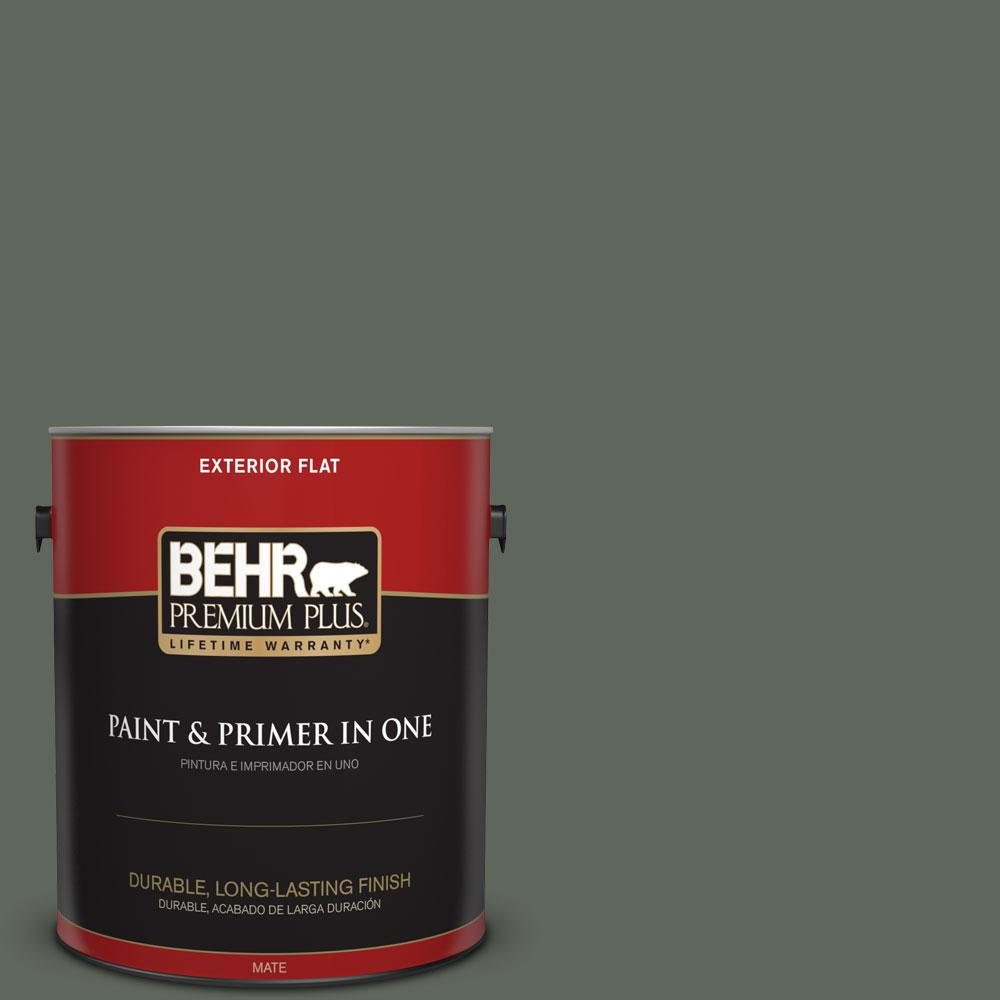 BEHR Premium Plus 1-gal. #710F-6 Painted Turtle Flat Exterior Paint