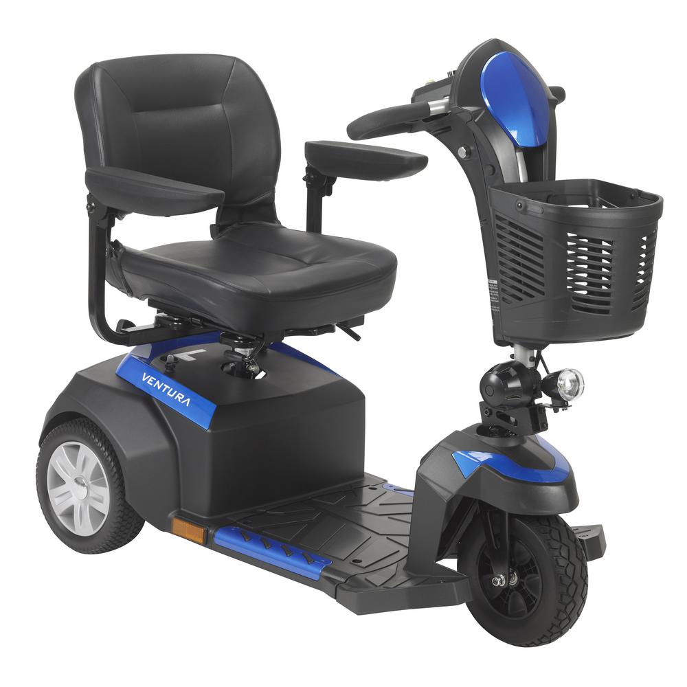 Drive Ventura Power Mobility Scooter 3-Wheel with 18 in. ...