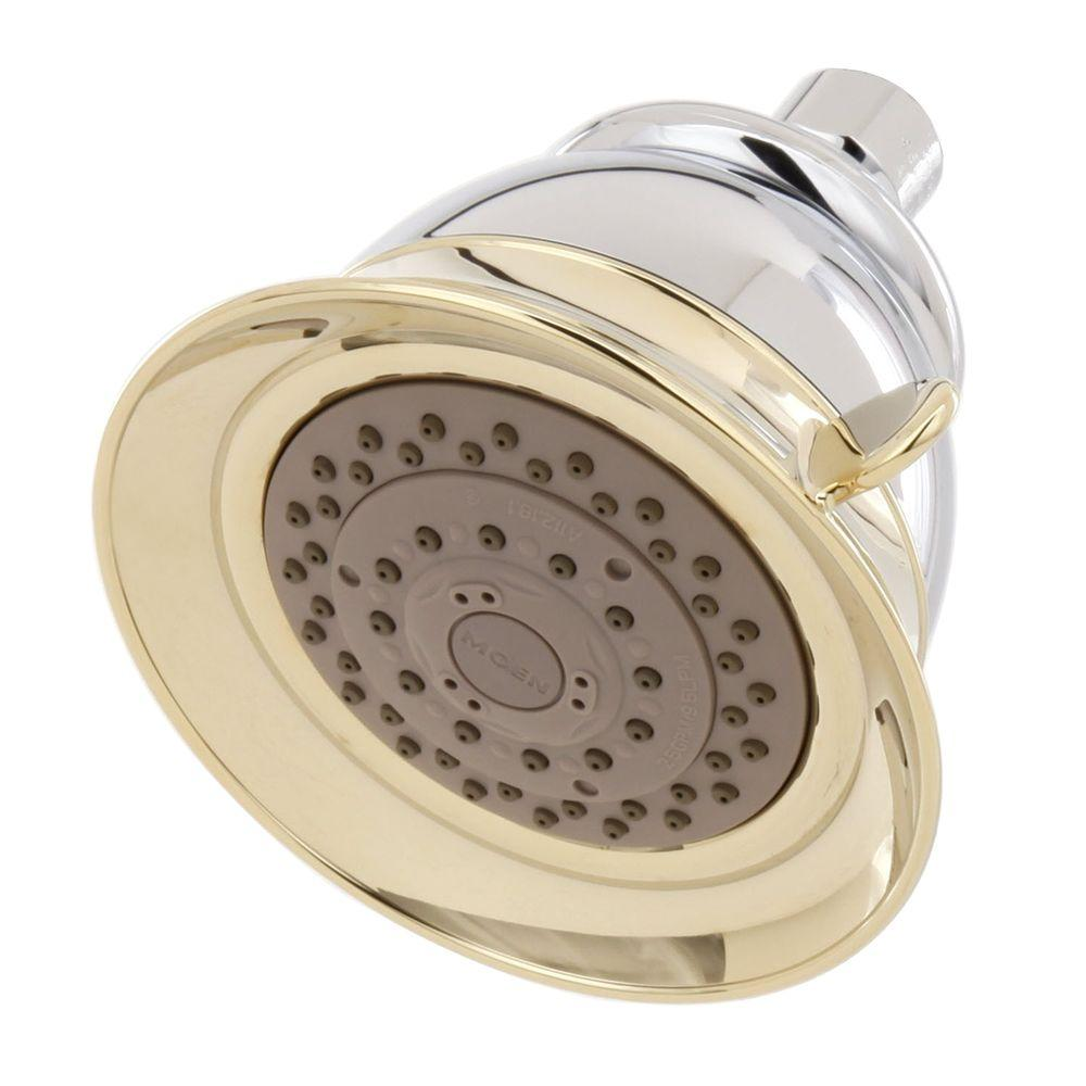 4-Spray 5 in. Showerhead in Chrome/Polished Brass
