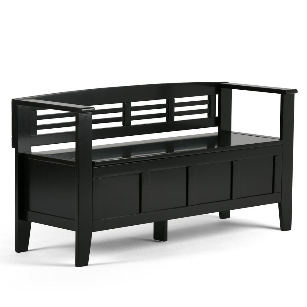Adams Black Storage  Bench