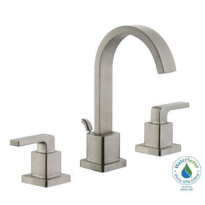 Farrington 8 in. Widespread 2-Handle Bathroom Faucet in Brushed Nickel