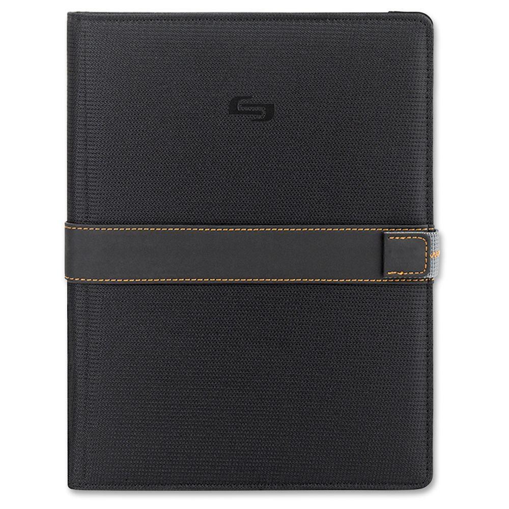 11 in. Black/Orange Polyester Tablet Carrying Case