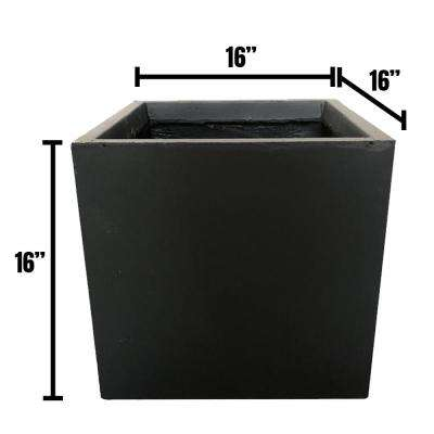 Lightweight Concrete Modern Long Low Planter and Square Charcoal Planter Combiation