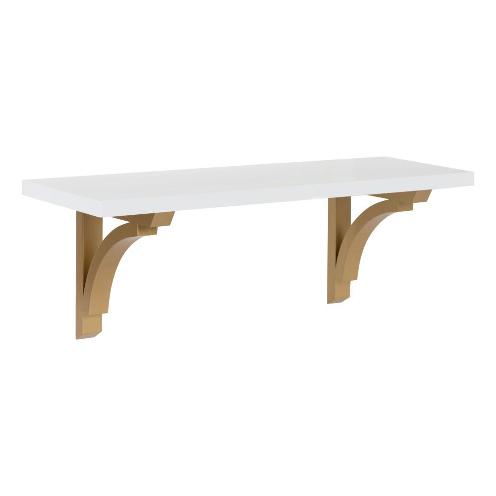 Corblynd 8 in. x 24 in. x 9 in. White/Gold Decorative