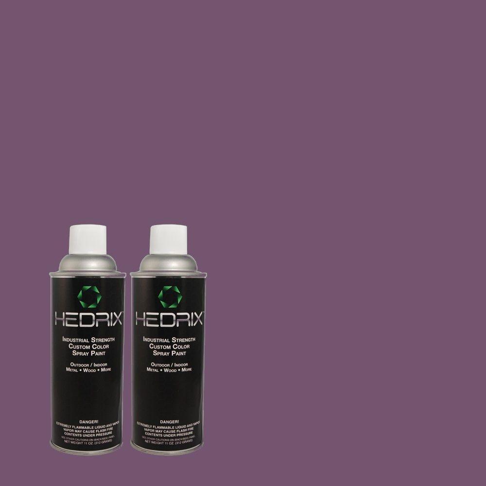 Hedrix 11 oz. Match of MQ5-42 Perpetual Purple Low Lustre Custom Spray Paint (8-Pack)