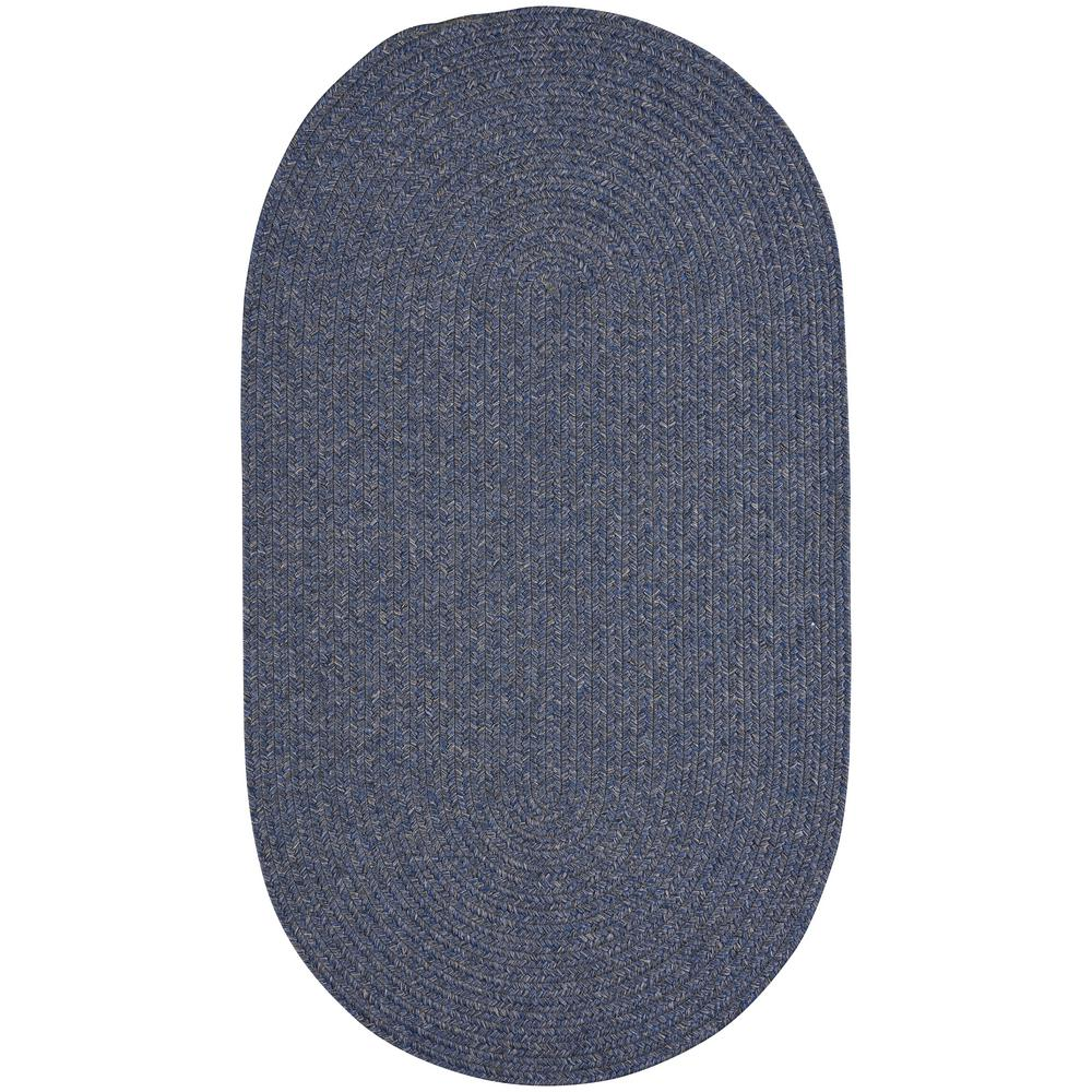 Candor Blue 1 ft. 8 in. x 2 ft. 6 in. Oval Area Rug