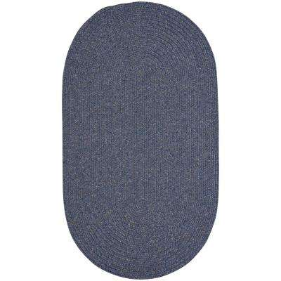 Candor Blue 4 ft. x 6 ft. Oval Area Rug