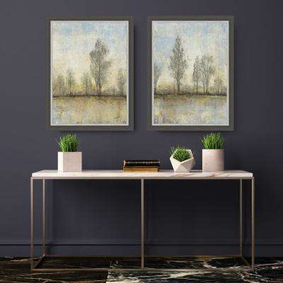 36.5 in. x 28.5 in. 'Quiet Nature II' by Tim O'Toole Textured Paper Print Framed Wall Art