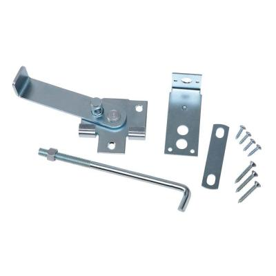 Zinc Plated Jamb Latch with 7 in. Hook