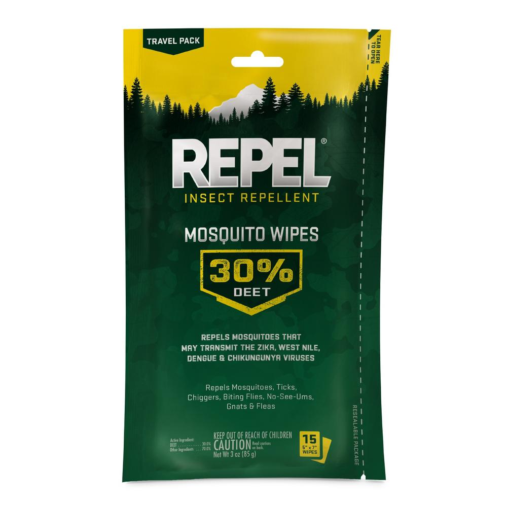 Repel Sportsmen Insect Repellent Mosquito Wipes (15-Count