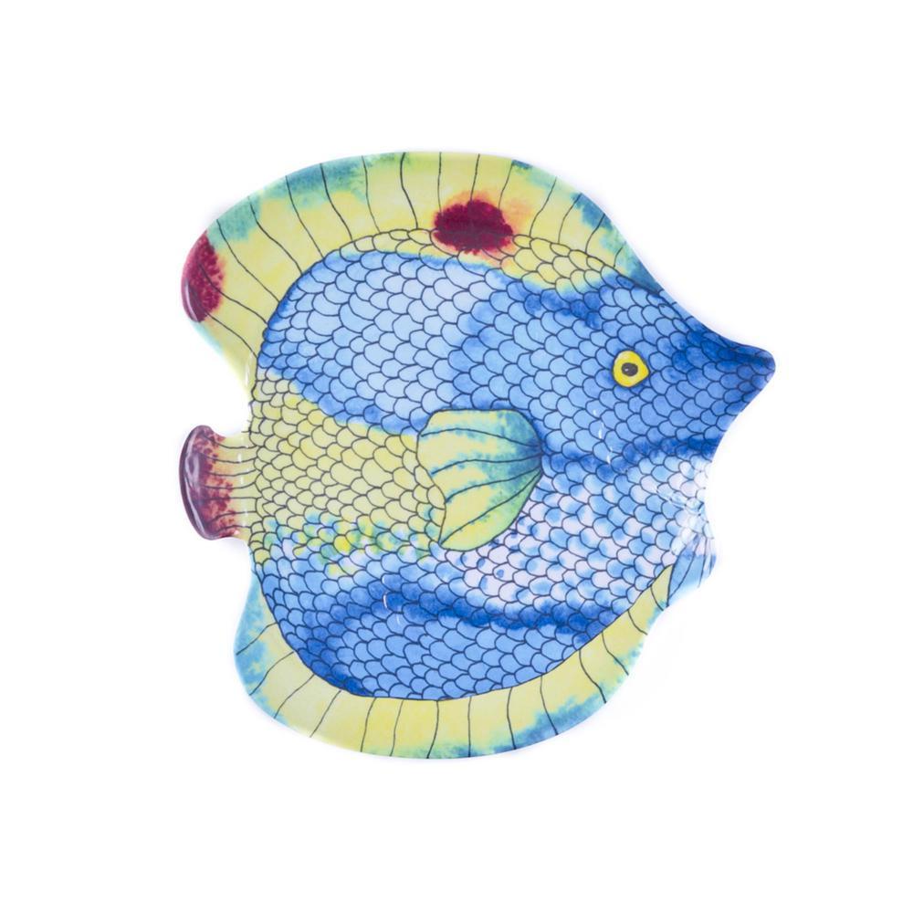 Swimmingly Fish Multi Salad Plate (Set of 4)