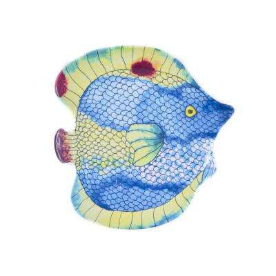 Swimmingly Fish Multi Salad Plate (Set of 4)