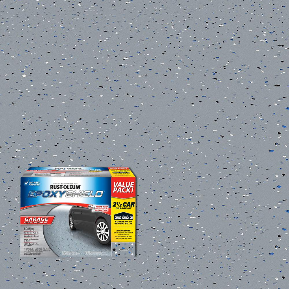 Rust Oleum Epoxyshield 2 Gal Gray Part High Gloss Epoxy Garage
