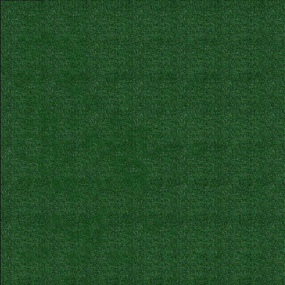 TrafficMASTER Green Ribbed 18 In. X 18 In. Carpet Tile (16