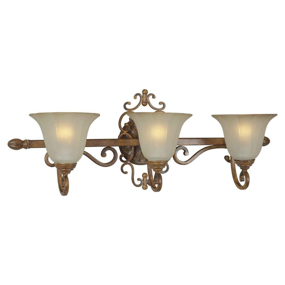 Talista Burton 3-Light Rustic Sienna Incandescent Wall Sconce