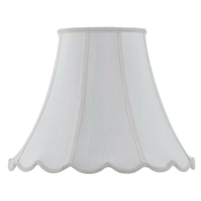 12 in. White Vertical Piped Scallop Bell Shade