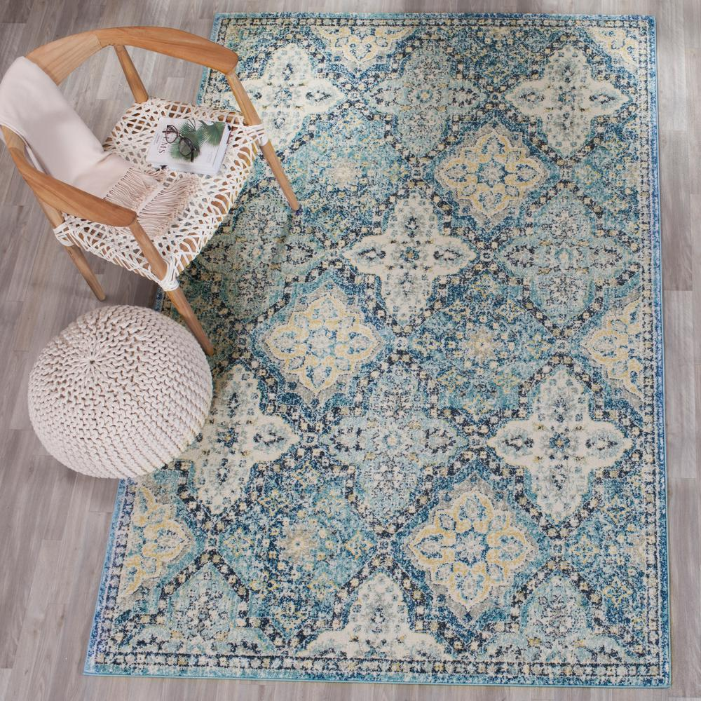 Safavieh Evoke Light Blue Ivory 10 Ft X 14 Ft Area Rug