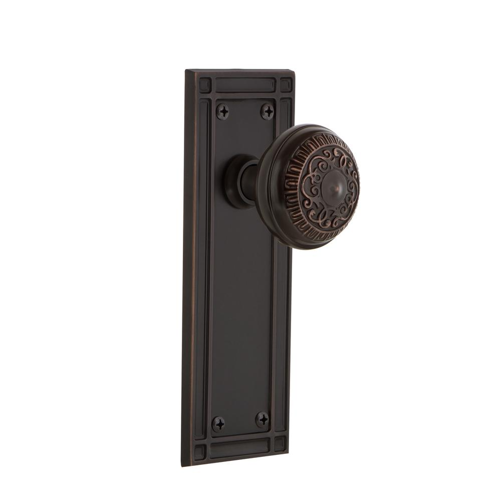 Mission Plate Single Dummy Egg and Dart Door Knob in Timeless